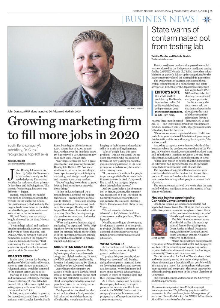 D4 Advanced Media on Northern Nevada Business Weekly