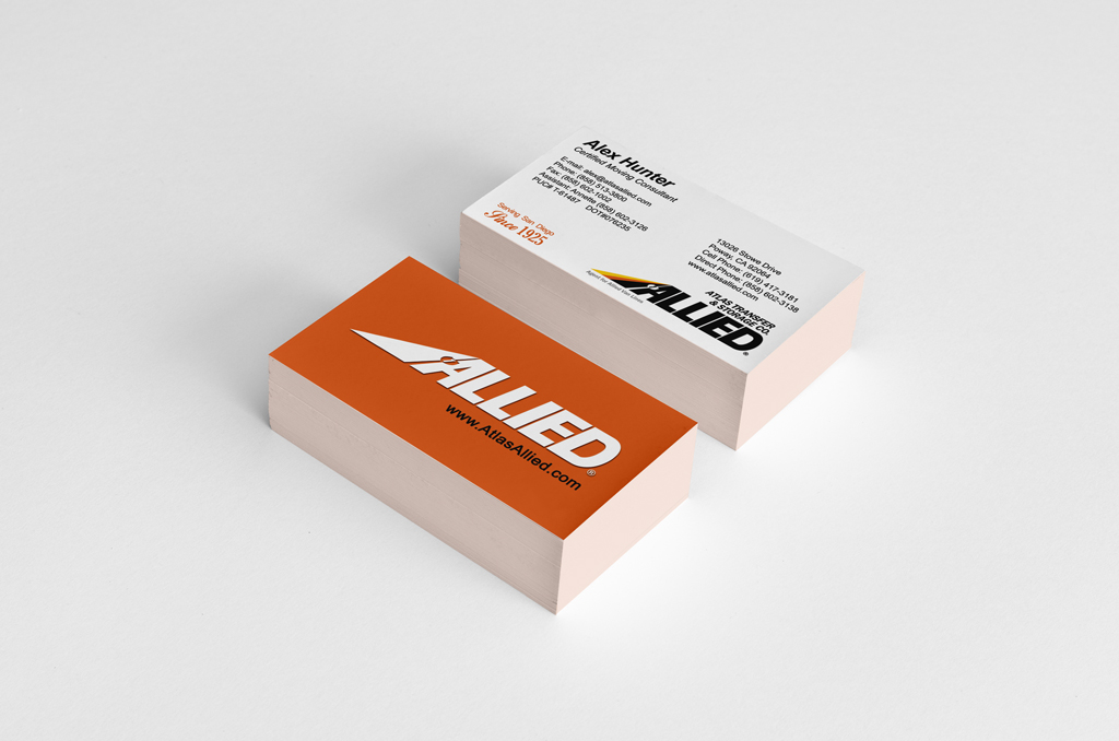Atlas Transfer & Storage Co. – Business Cards – D4 Advanced Media