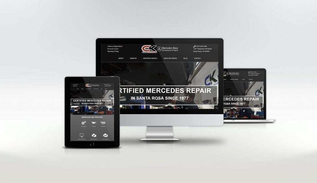 website design for auto company