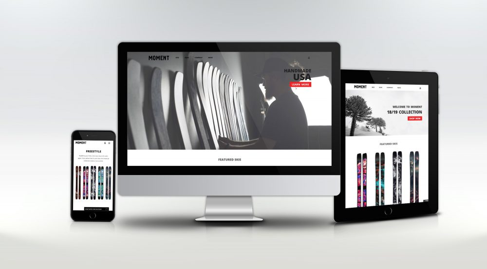 Moment Skis – Website Redesign