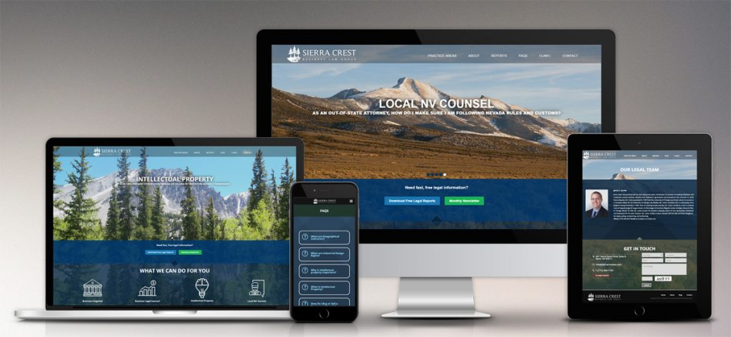 Sierra Crest – Website Design